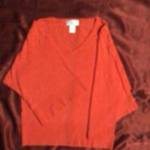 Soft Surroundings Dark Peach Sweater